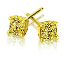 Harry Kotlar yellow diamond stud earrings as seen on Rihanna