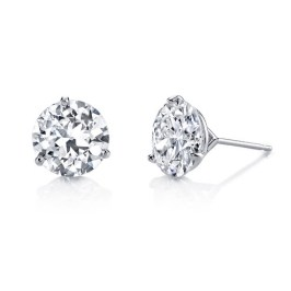 Hearts on Fire three prong diamond stud earrings as seen on Rihanna