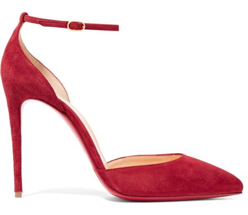 Christian Louboutin Uptown red suede pumps as seen on Rihanna