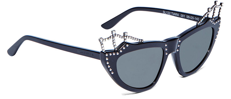 Saint Laurent sun set sunglasses in black as seen on Rihanna