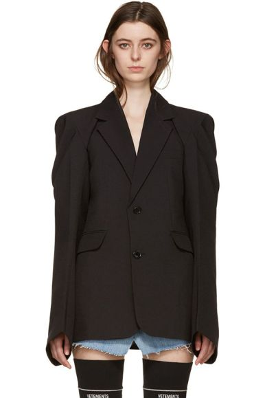 Vetements black blazer as seen on Rihanna