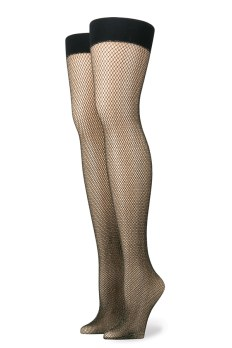 Rihanna x Stance Fishnet glittery gold and black stocking