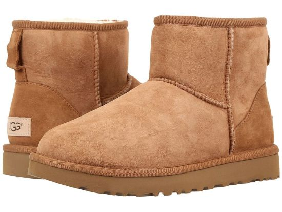 UGG Classic Mini II boot in Chestnut as seen on Rihanna