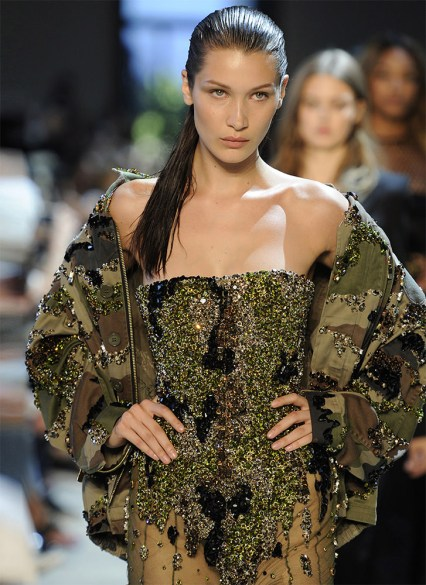 Alexandra Vauthier Fall 2016 couture camo jacket as seen on Rihanna
