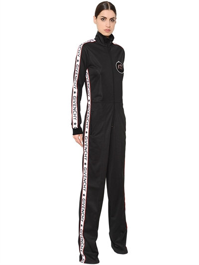 Givenchy black logo stripe jumpsuit