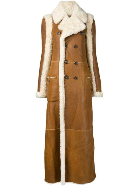 Chloe brown reversible shearling coat as seen on Rihanna