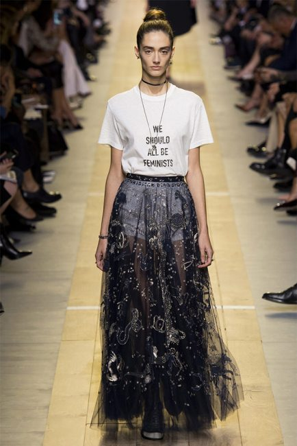 Dior Spring 2017 we should all be feminists t-shirt as seen on Rihanna