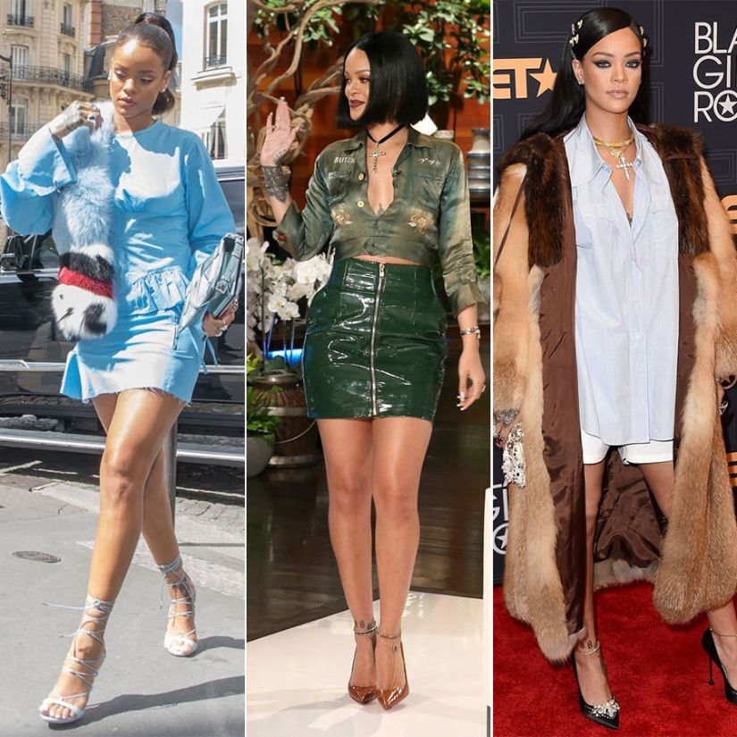 Rihanna best red carpet appearance outfits 2016 colette pop-up shop, ellen show, black girls rock