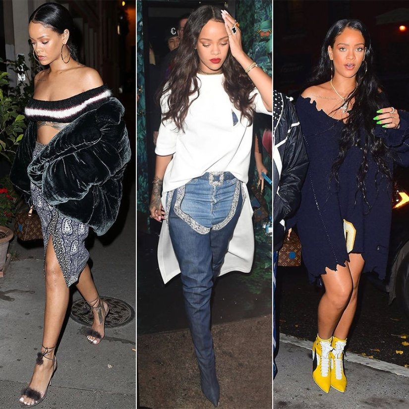 Rihanna best outfits 2016 candids street style off duty