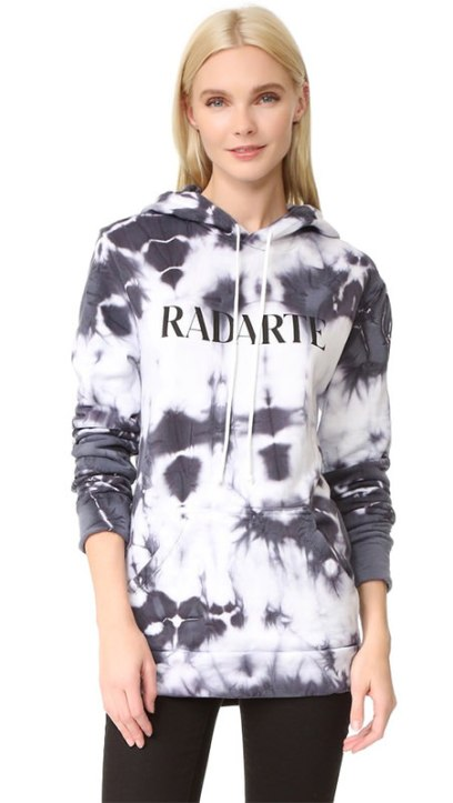 Rodarte Radarte tie dye hoodie as seen on Rihanna
