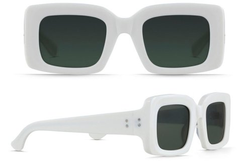 RAEN white Flatscreen square frame sunglasses as seen on Rihanna Roc Nation brunch 2017