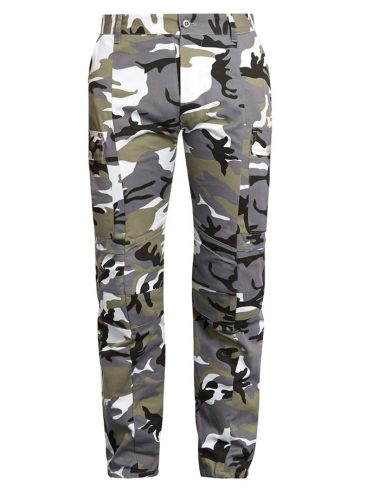 Vetements camo cargo pants as seen on Rihanna