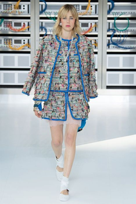 Chanel Spring 2017 skirt suit as seen on Rihanna