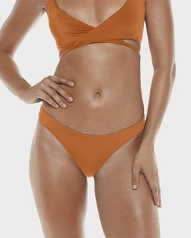 Allerton Swimwear Seamless Brazilian bikini bottom in copper as seen on Rihanna
