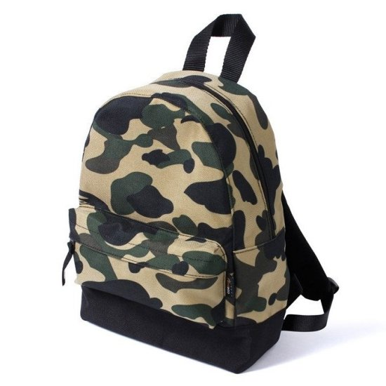 BAPE 1st camo cordura day pack backpack as seen on Rihanna