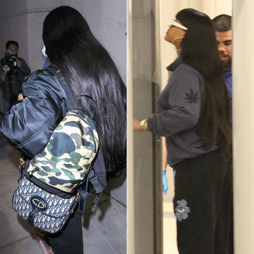 Rihanna Jacquie Aiche sweet leaf and eye burst hoodie, BAPE 1st camo cordura backpack