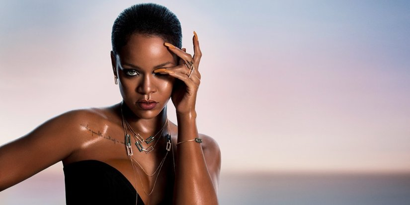 Rihanna Loves Chopard jewelry collection ad campaign