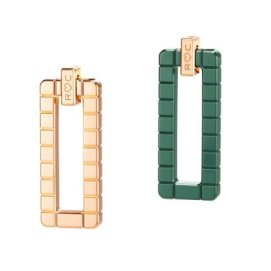 Rihanna Loves Chopard rose gold and green ceramic earrings