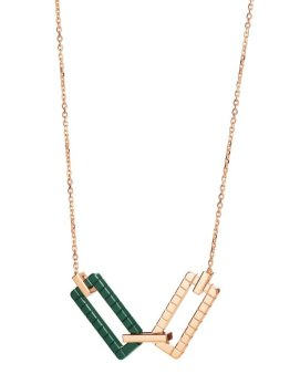Rihanna Loves Chopard rose gold and green ceramic necklace