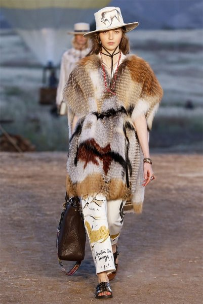 Dior Cruise 2018 fur coat as seen on Rihanna
