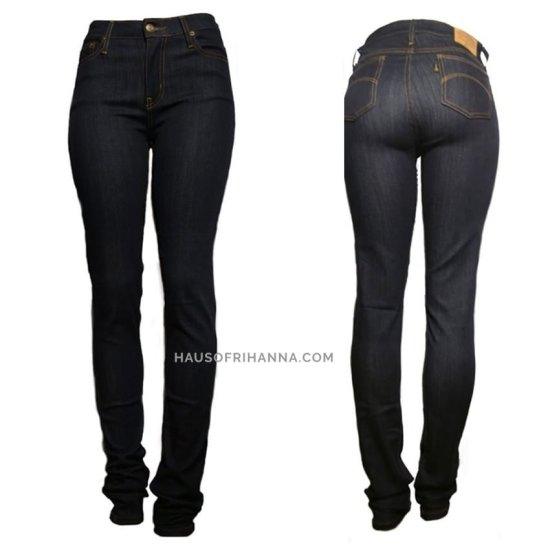 True Hills dark wash jeans as seen on Rihanna