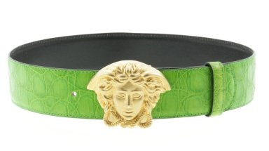 Vintage Gianni Versace green croc belt as seen on Rihanna DJ Khaled Wild Thoughts music video