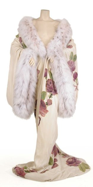 John Galliano vintage Fall 1998 fur-lined kimono robe as seen on Rihanna