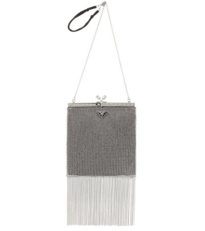 Prada metal fringe handbag as seen on Rihanna