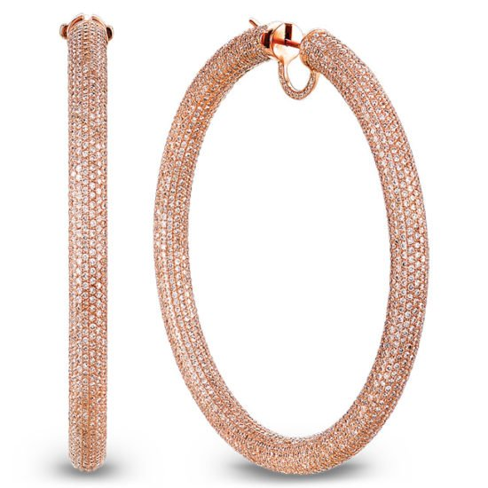 Jacob and Co diamond hoop earrings as seen on Rihanna