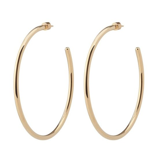 Jennifer Fisher classic hoop earrings as seen on Rihanna