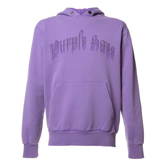 Palm Angels Purple Haze hoodie as seen on Rihanna