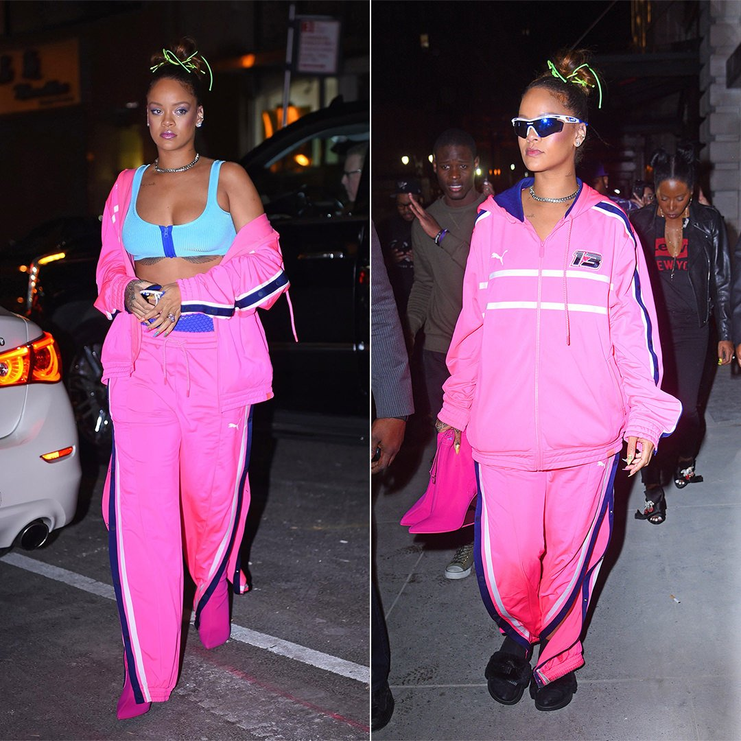 6424a8e764e Rihanna showed the Fenty x Puma Spring 2018 collection on September 10 at  the Park Avenue Armory in New York. She held the after-party at the Magic  Hour at ...