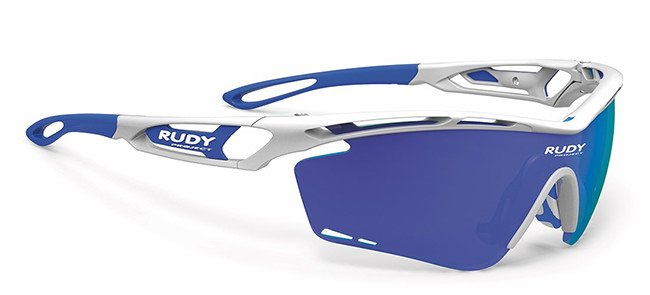 Rudy Project Tralyx white and blue sunglasses as seen on Rihanna