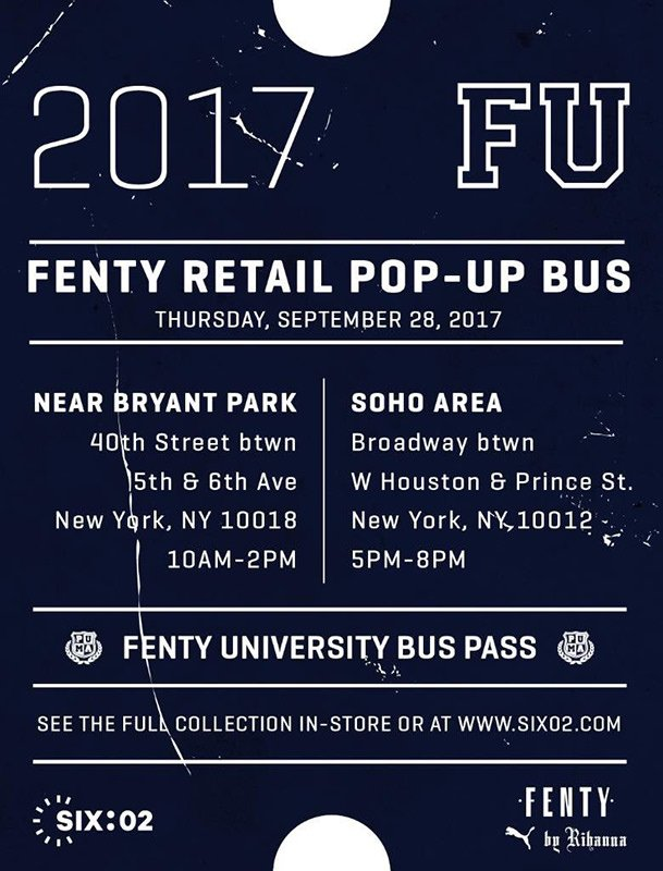 And speaking of SIX 02. The store is hosting a pop-up bus in New York on  September 28th. Check out the schedule above for times and addresses. 6d61ecb34