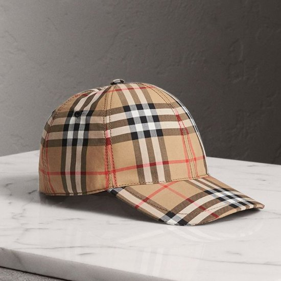 Burberry vintage check baseball cap as seen on Rihanna