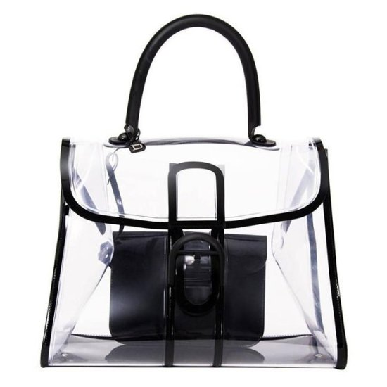 Delvaux Le Brillant X-Ray pvc handbag as seen on Rihanna