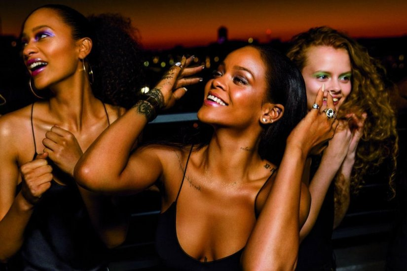 Rihanna Fenty Beauty Galaxy Collectiom campaign photo