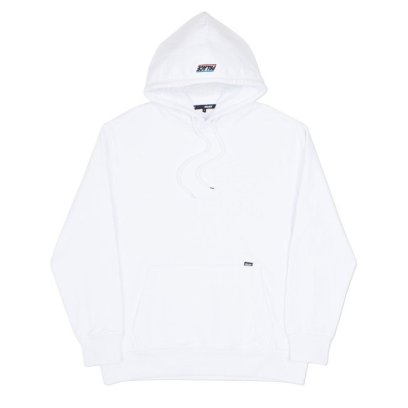 Palace Skateboards Basically a Hood white hoodie as seen on Rihanna
