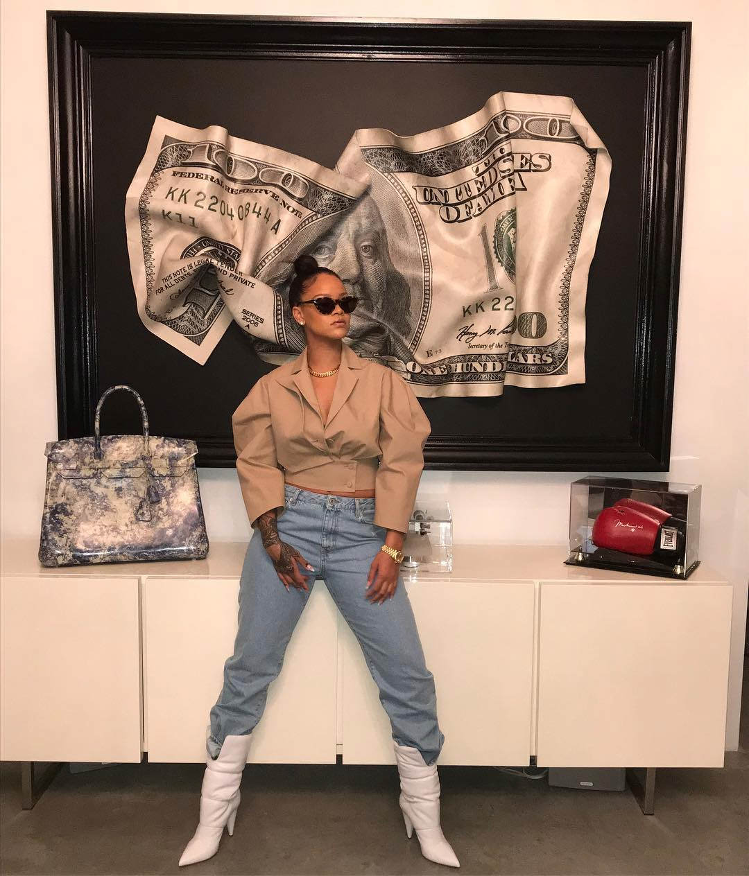 Instagram Chic: Rihanna in Off-White Spring 2018 - Haus of ...