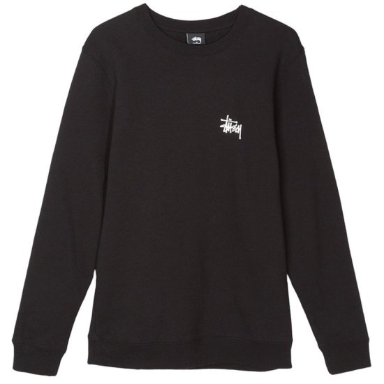 Stussy basis crew sweatshirt in black