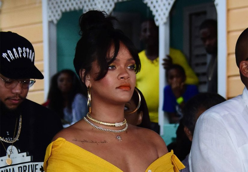 Rihanna Fenty Beauty makeup Barbados ceremony Rihanna Drive