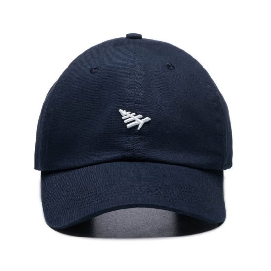 Roc Nation plane icon dad hat in navy as seen on Rihanna