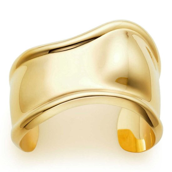 Tiffany and Co Elsa Peretti gold bone cuff as seen on Rihanna