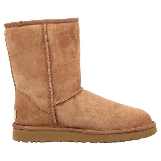 UGG Classic Short II boots in Chestnut as seen on Rihanna