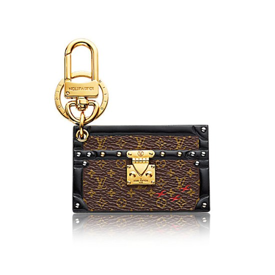 Louis Vuitton Petite Malle bag charm and key holder as seen on Rihanna