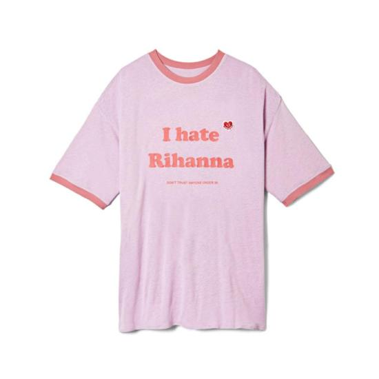 Bjarne Melgaard I Hate Rihanna t-shirt as seen on Rihanna