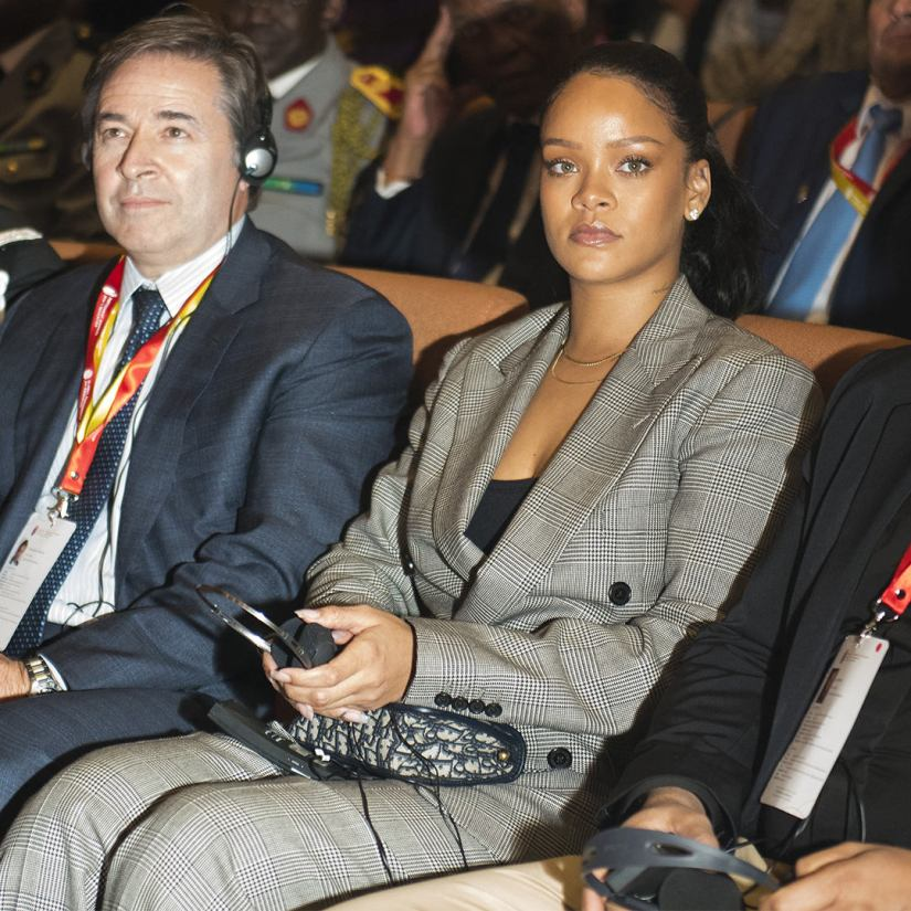 Rihanna Dior Addict handbag GPE Financial Conference Senegal
