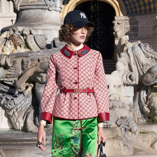 Gucci pre-fall 2018 New York Yankees cap as seen on Rihanna