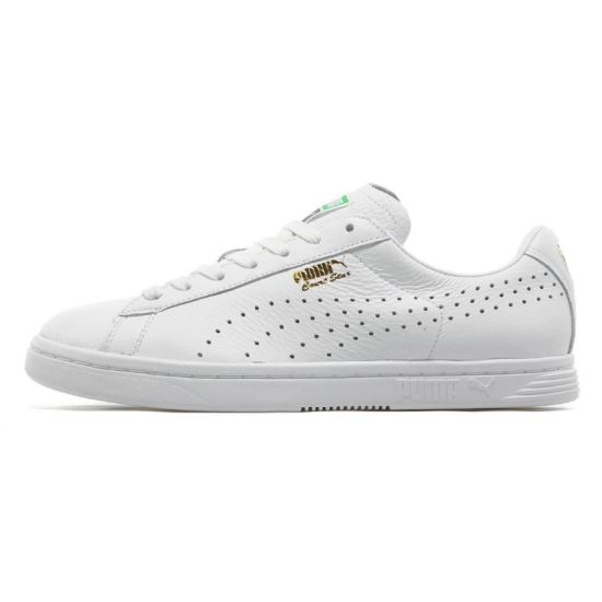 Puma white Court Star sneakers as seen on Rihanna