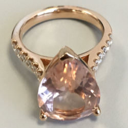 Le Vian morganite ring as seen on Rihanna